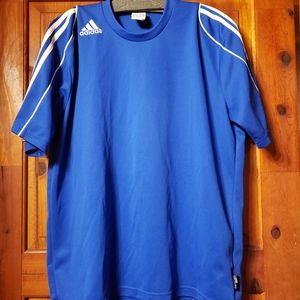 Medium Blue and White Adidas top